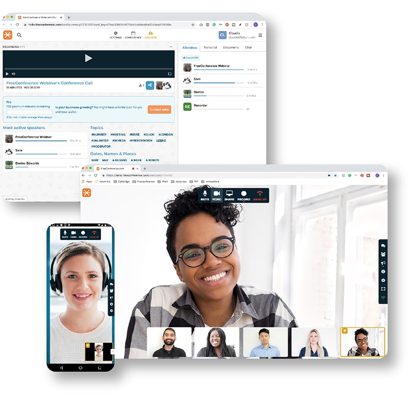 free conference calls-more features