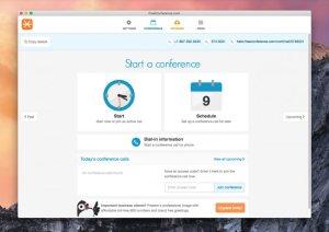 FreeConference.com desktop app for holding free conference calls