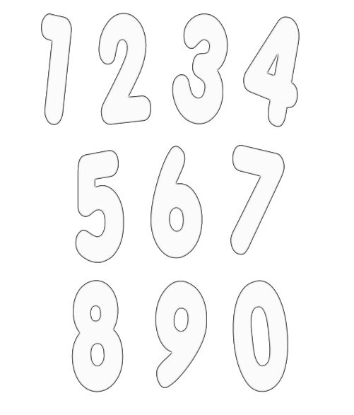 Free Numbers Templates. hearts valentines day card template for ...