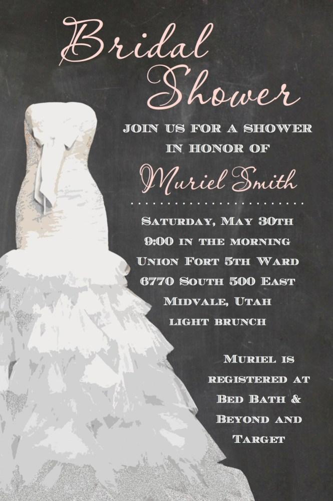 Bridal Shower Invitation Template Invitations