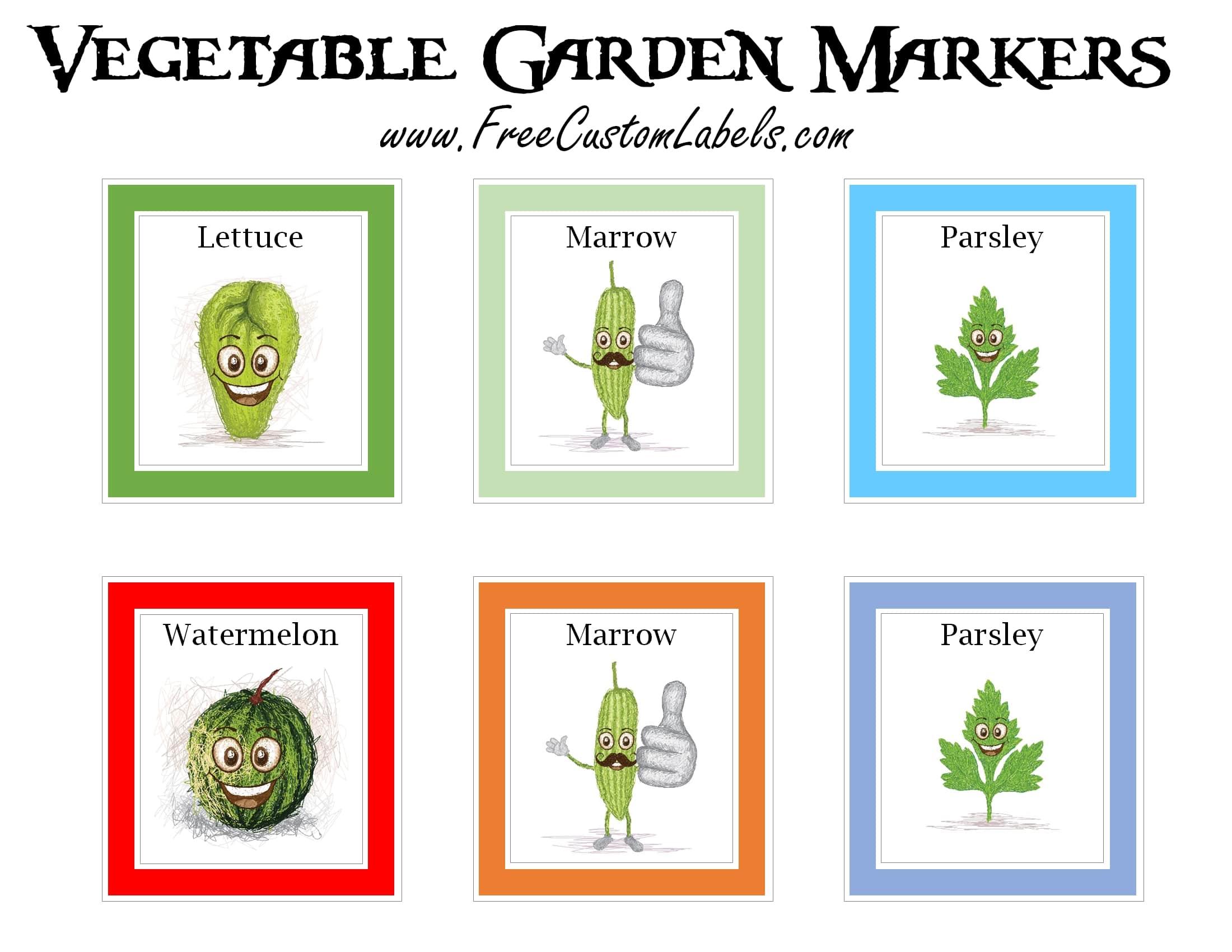 Printable Vegetable Garden Markers
