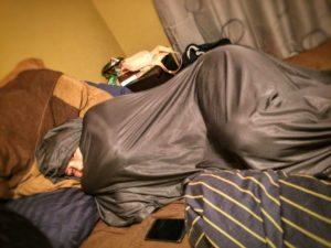 layover, flight, travel, sleeping bag liner