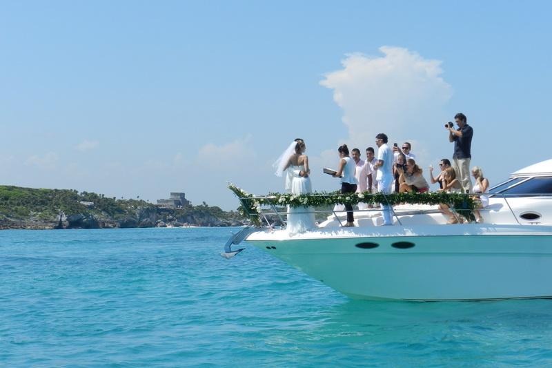 tulum yacht wedding