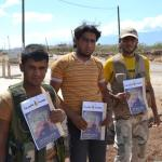 Distribution of Magazine Rising For Freedom in Syria and in the Diaspora.