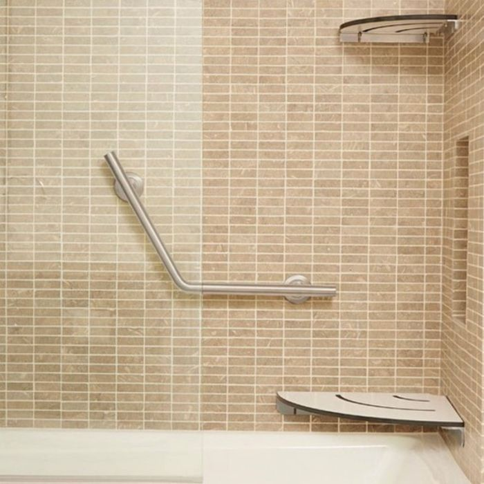 Freedom Corner Shower Or Tub Seat With Matching Corner Shelf