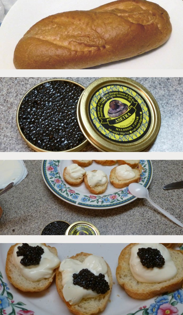 simple way to eat caviar