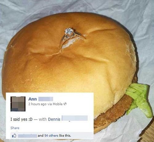 burger_engagement_ring_cheap