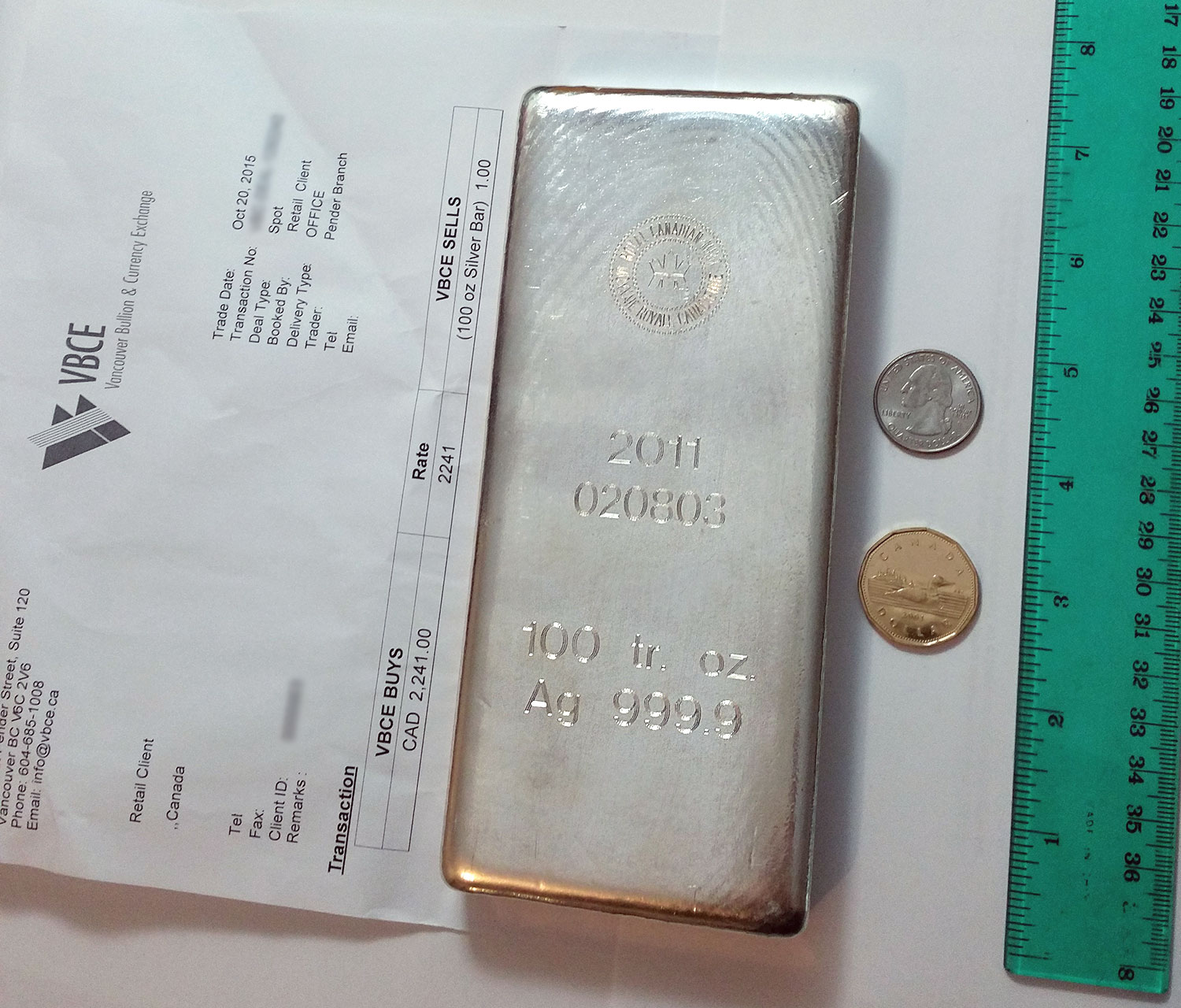 100 Oz Silver Bar Review Royal Canadian Mint