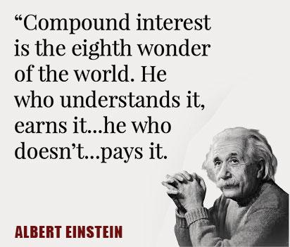Einstein describing compound interest