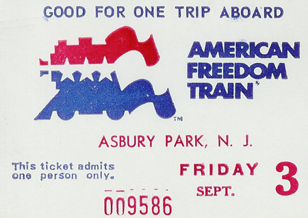 Freedom Train admission ticket