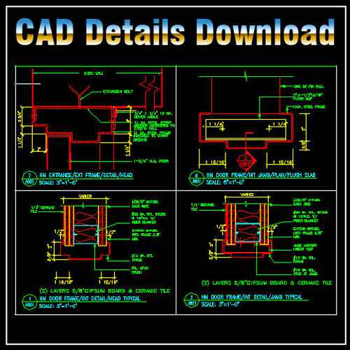 ★【Door Jamb Details】★ - Free Download Architectural Cad Drawings
