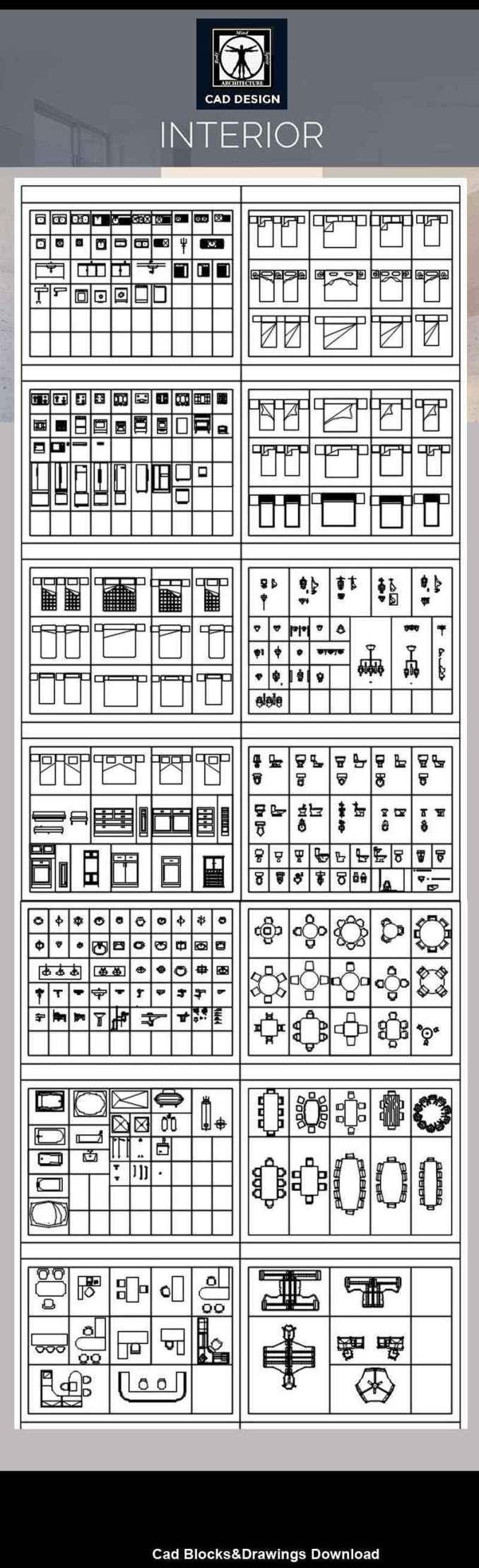 All Interior Design Blocks Bundle 5