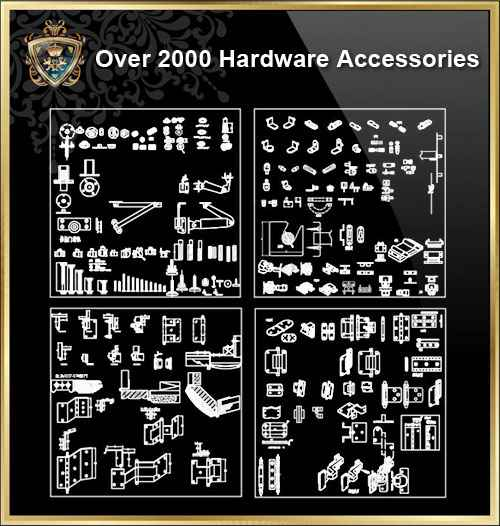 Over 2000 Hardware Accessories CAD blocks - Free Download Architectural Cad  Drawings