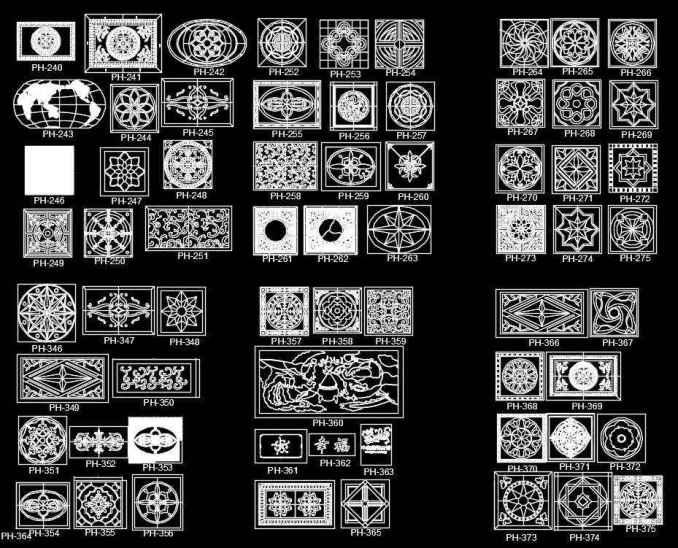 Over 600+ Types of Paving Design CAD Blocks
