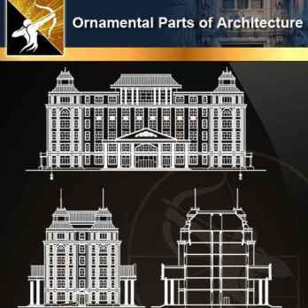 ★【Ornamental Parts of Architecture -Decoration Element CAD Blocks V.4】@Autocad Decoration Blocks,Drawings,CAD Details,Elevation