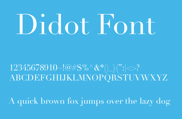 Didot Font Free Download