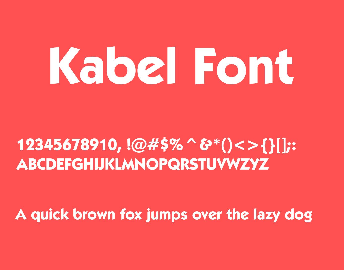 Kabel Font