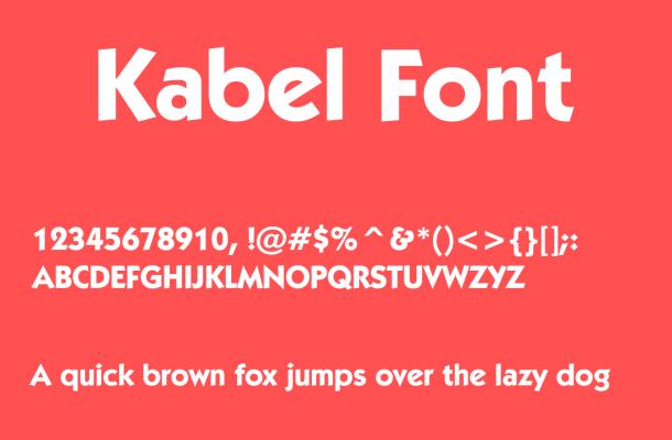 Kabel Font Free Download