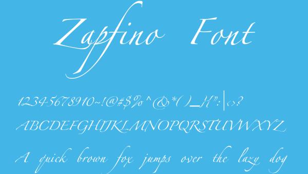 Zapfino Font Free Download
