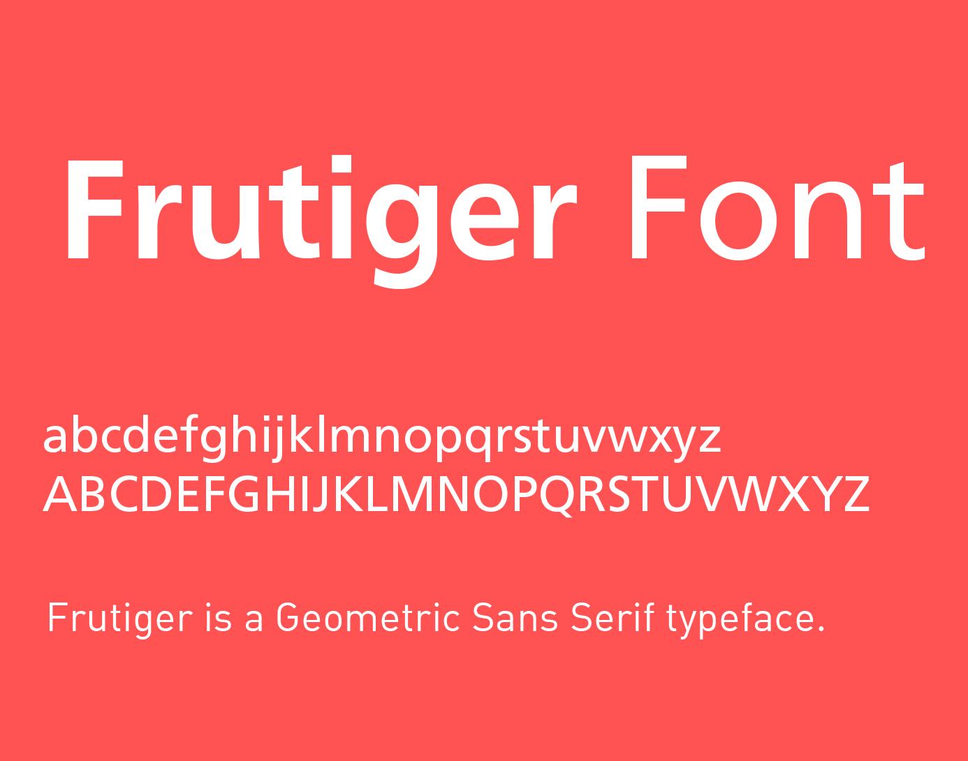typo frutiger gratuit