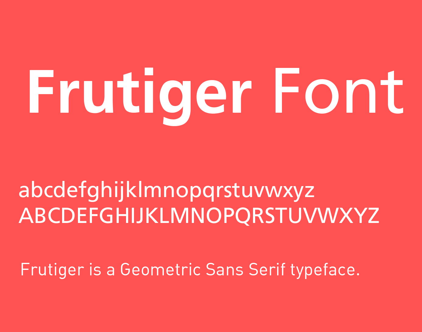 frutiger-font
