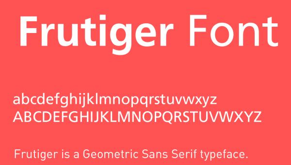 Frutiger Font Free Download