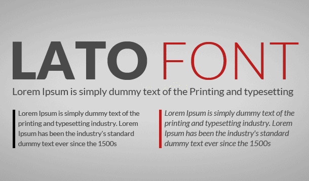 Lato Font Family Free