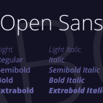 Open Sans Font Family Free Download