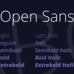 Open Sans Font Family Free Download