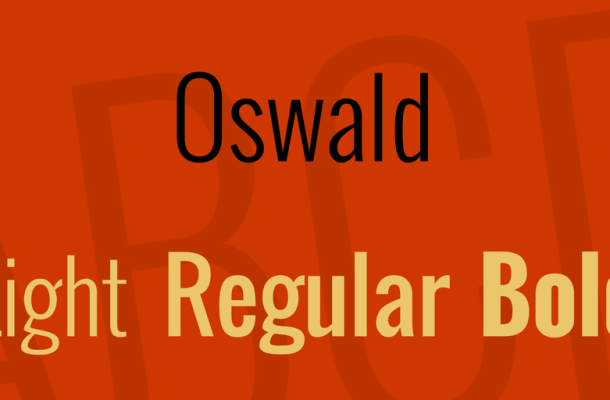 Oswald Font Family Free Download