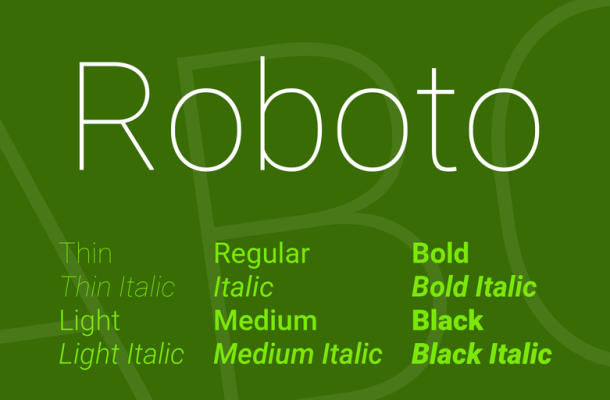 Roboto Font Family Free Download