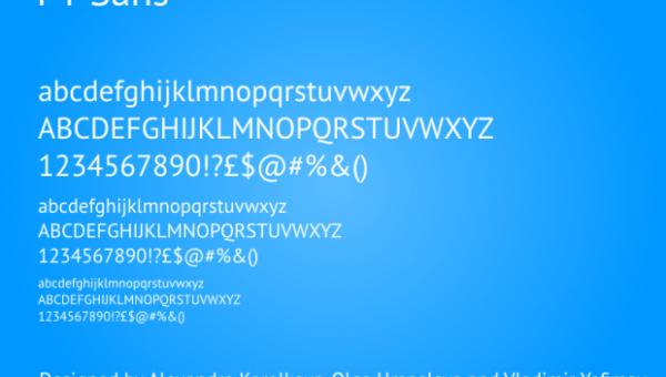 PT Sans Font Family Free Download