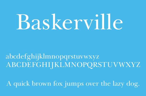 Baskerville Font Free Download