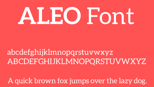 Aleo Font Family Free Download