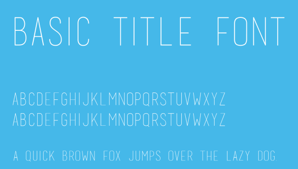 Basic Title Font Free Download