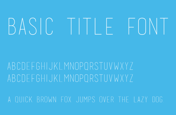 Basic Title Font Free Download
