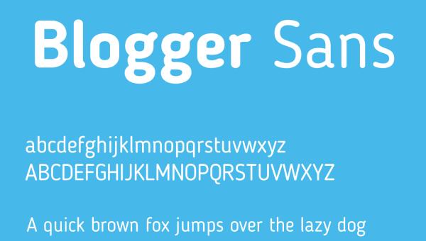 Blogger Sans Font Free Download