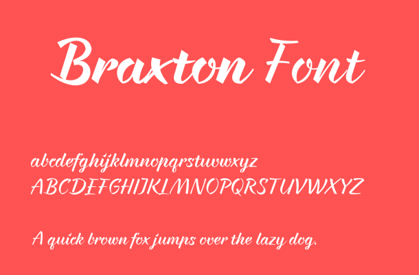 Braxton Font Free Download