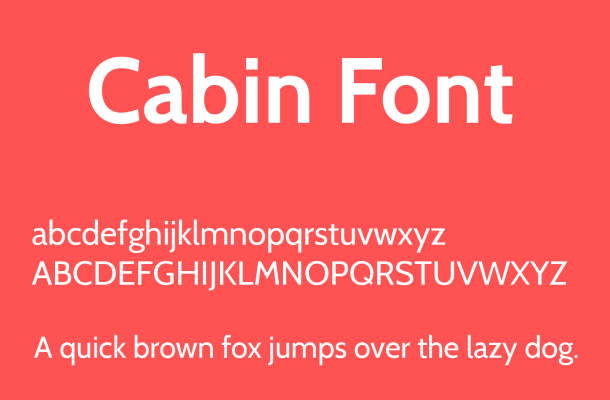 Cabin Font Free Download