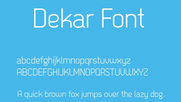 Dekar Font Free Download
