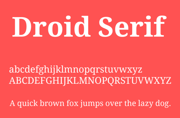 Droid Serif Font Family Free Download
