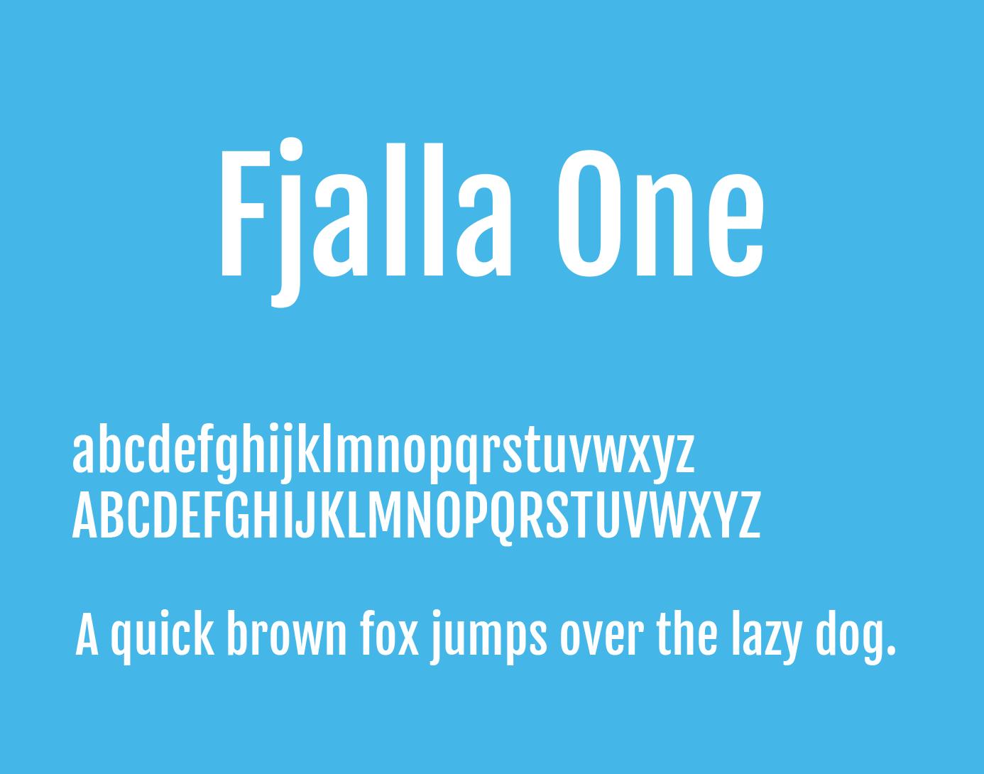 fjalla-one-font