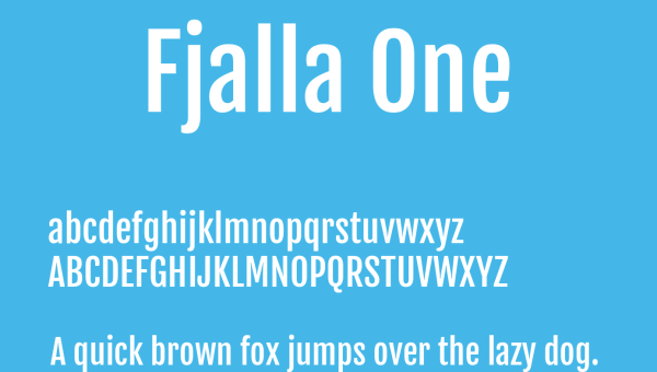 Fjalla One Font Free Download