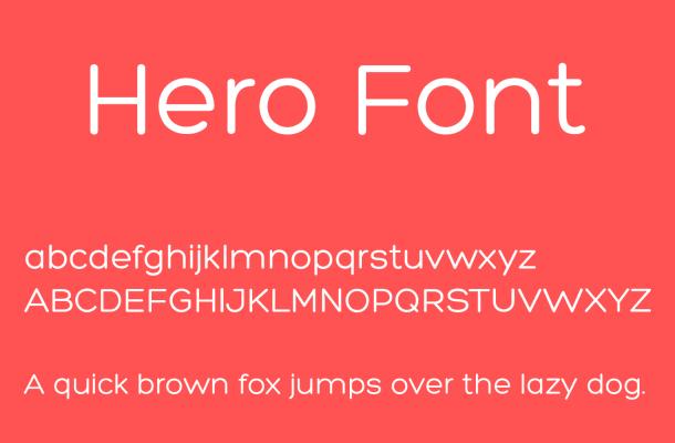Hero Font Free Download