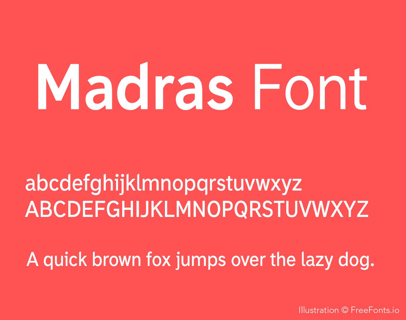 madras-font