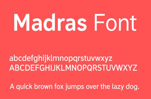 Madras Font Free Download