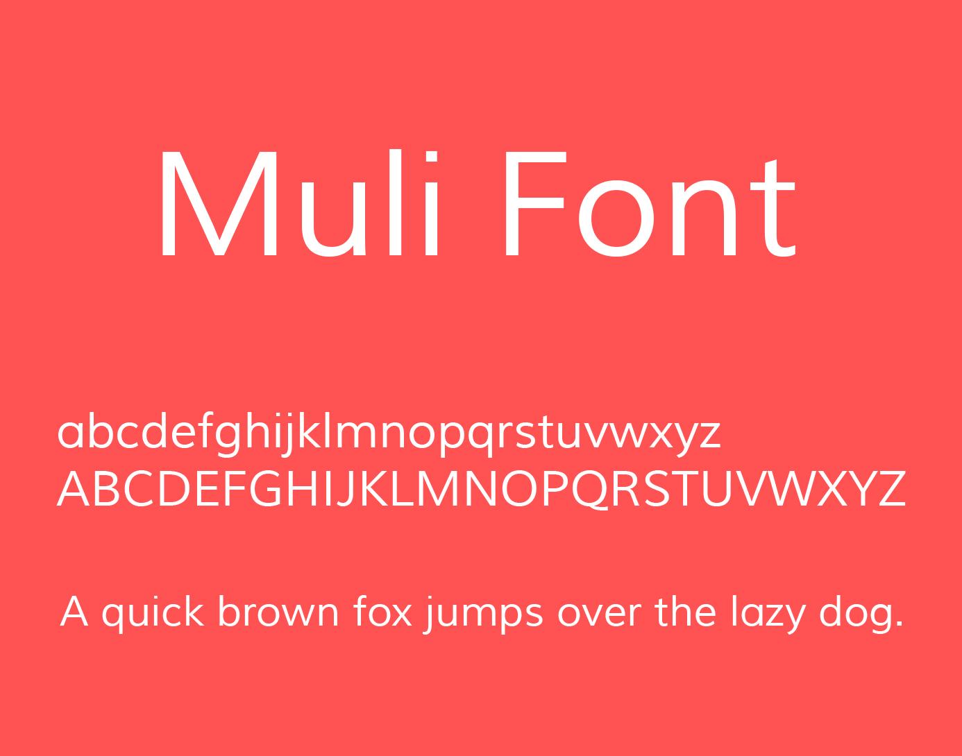 muli-font-style