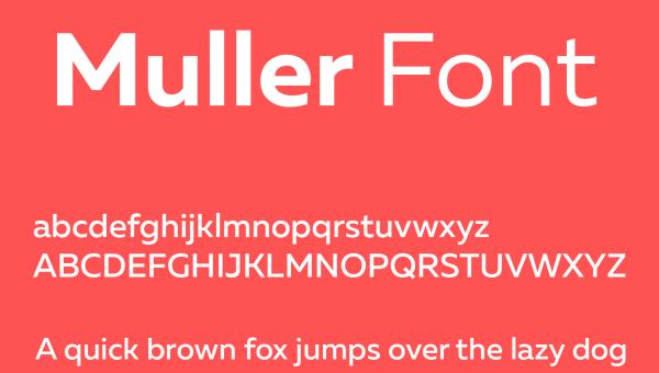 Muller Font Free Download