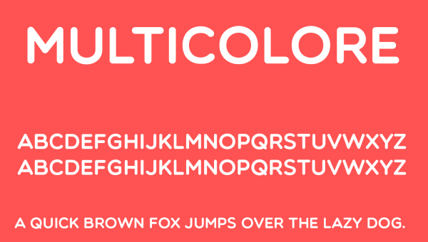 Multicolore Font Free Download