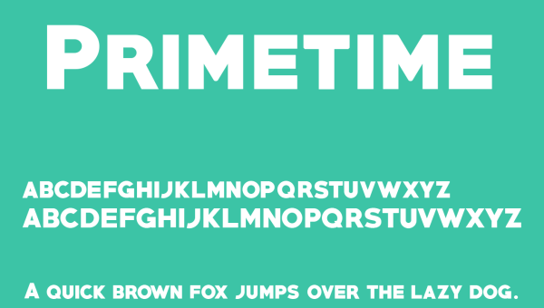 Primetime Font Free Download